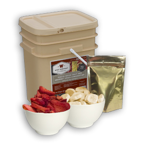 Wise Food 120 Serving Freeze Dried Fruit and Snack Combo Pack