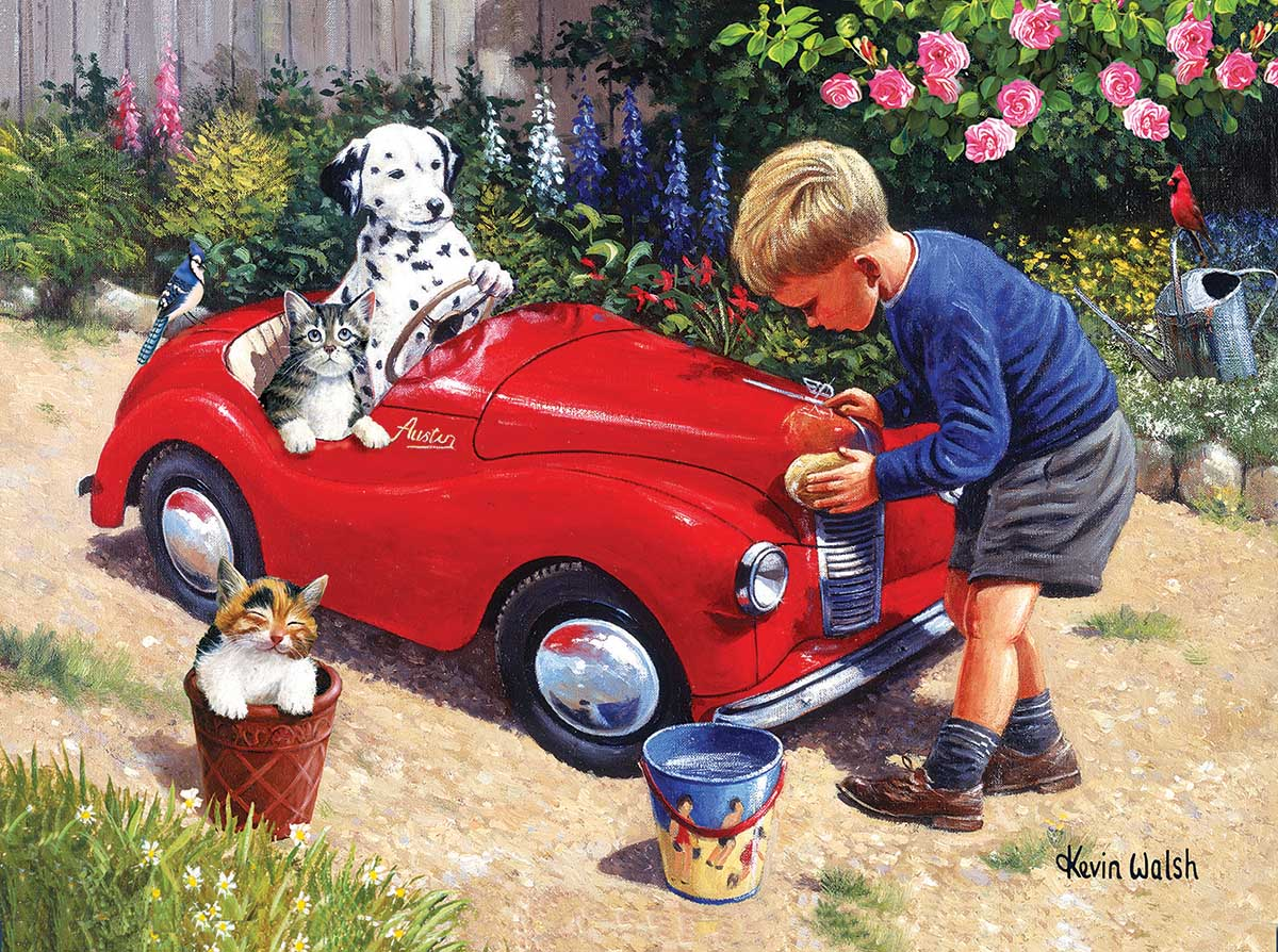 SunsOut Puzzle - #13717 Washing the  Car - 1000pc Jigsaw Puzzle