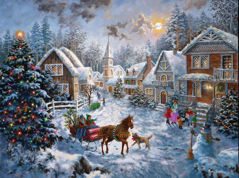 SunsOut Puzzle - #19236 Merry Christmas - 1000pc Jigsaw Puzzle