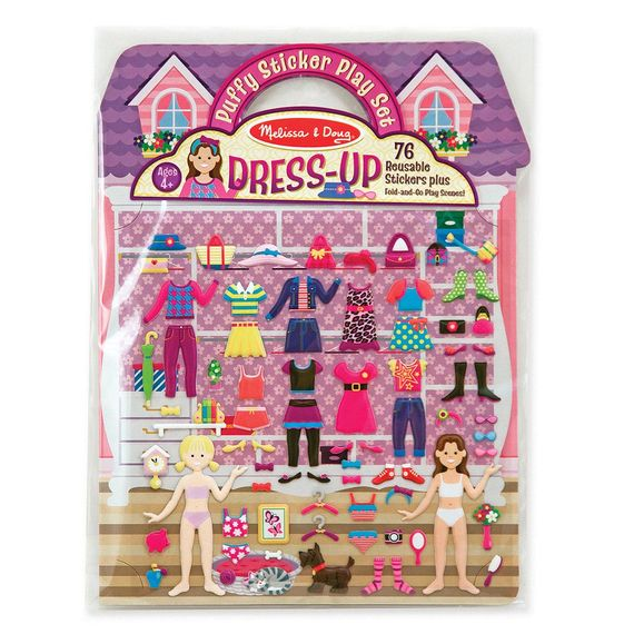 2195 - Melissa & Doug Puffy Sticker Play Set: Dress-Up