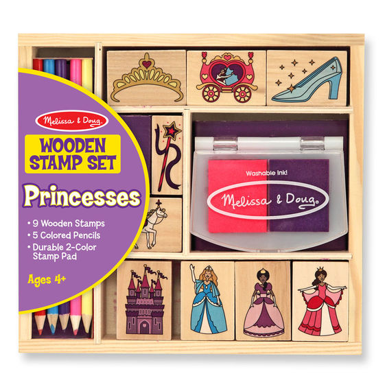 2418 - Melissa & Doug Wooden Princess Stamp Set