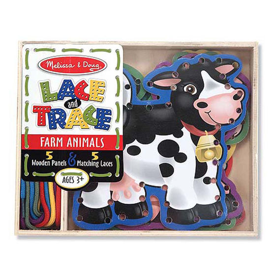 3781 - Melissa & Doug Lace & Trace Farm Animals