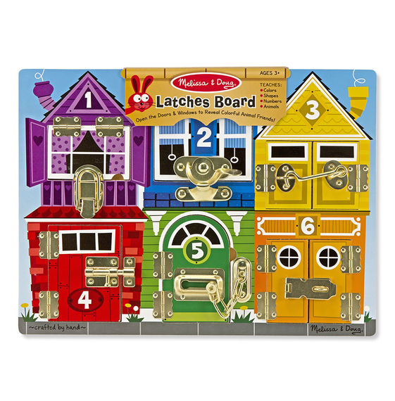 3785 - Melissa & Doug Wooden Latches Board