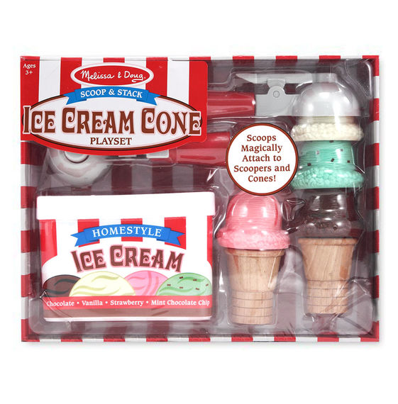 4087 - Melissa & Doug Scoop & Stack Ice Cream Cone Play Set