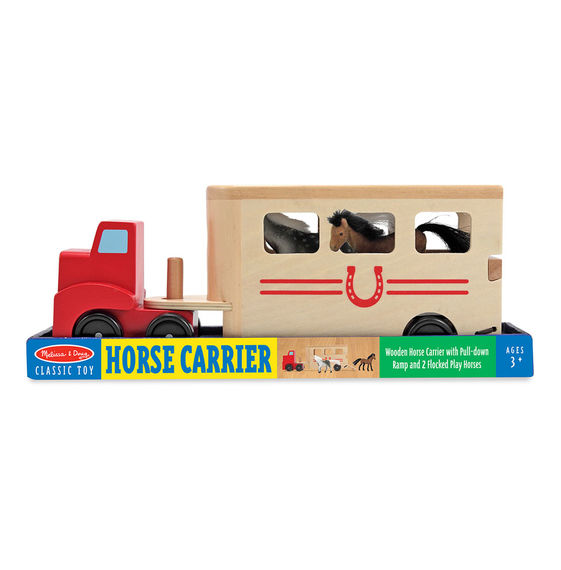 4097 - Melissa & Doug Horse Carrier Wooden Vehicles Play Set