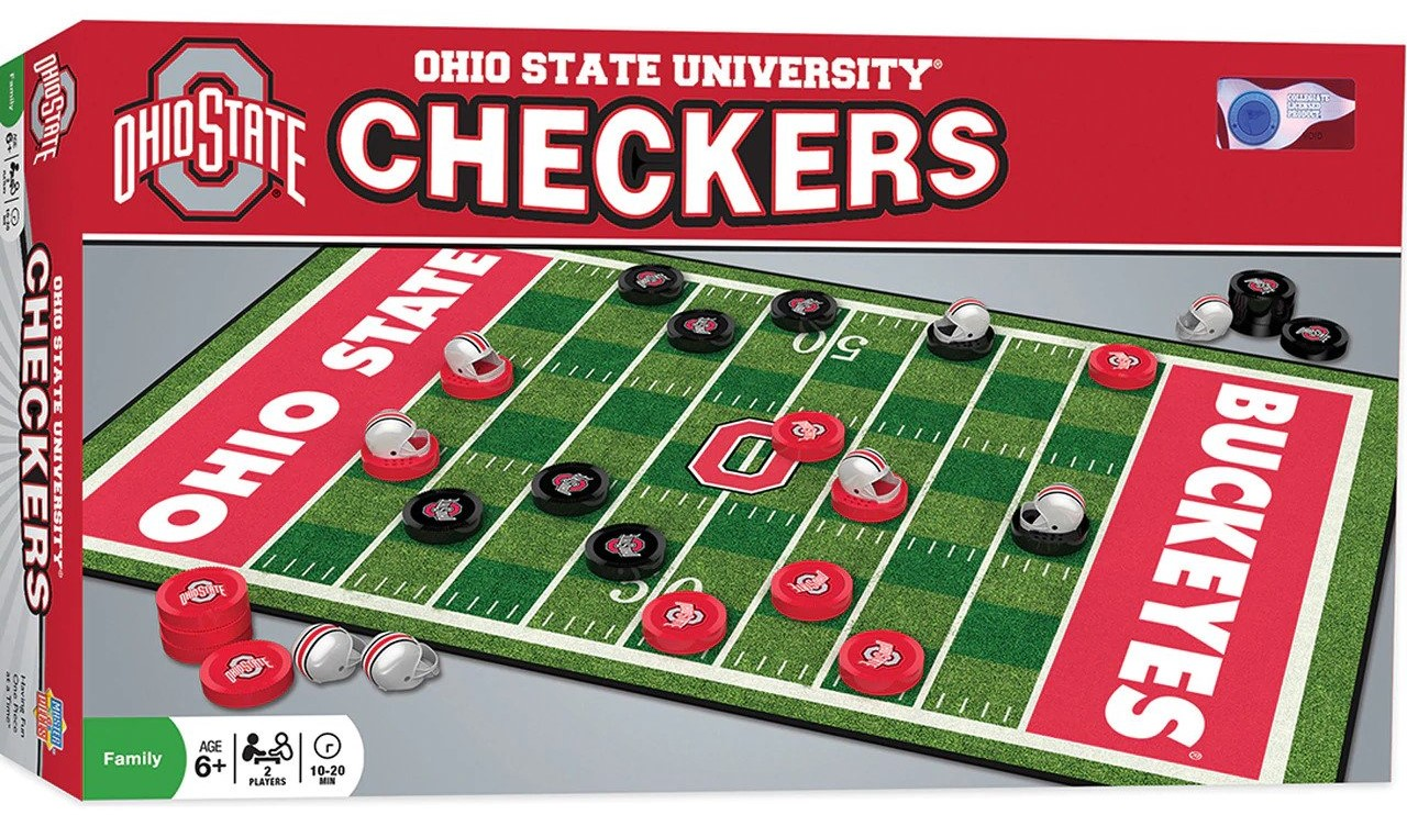 MasterPieces NCAA Ohio State Buckeyes Checkers Board Game