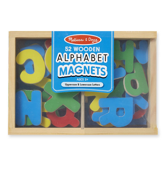 448 - Melissa & Doug Wooden Letter Alphabet Magnets