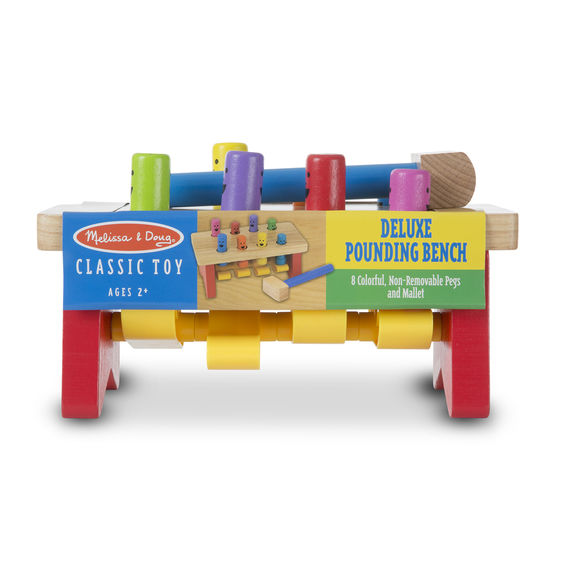 4490 - Melissa & Doug Deluxe Pounding Bench - Toddler Toy