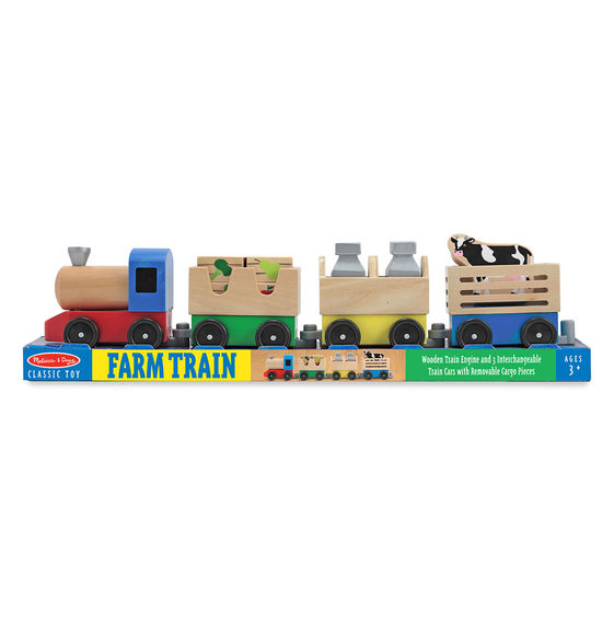 4545 - Melissa & Doug Wooden Farm Train Toy Set