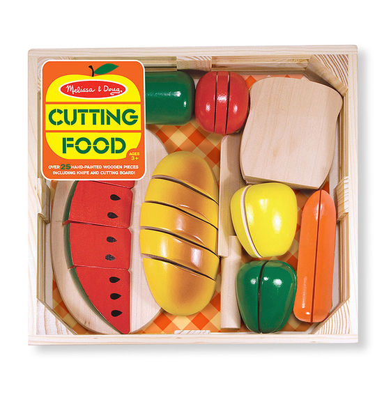 487 - Melissa & Doug Cutting Food - Wooden Play Food Set