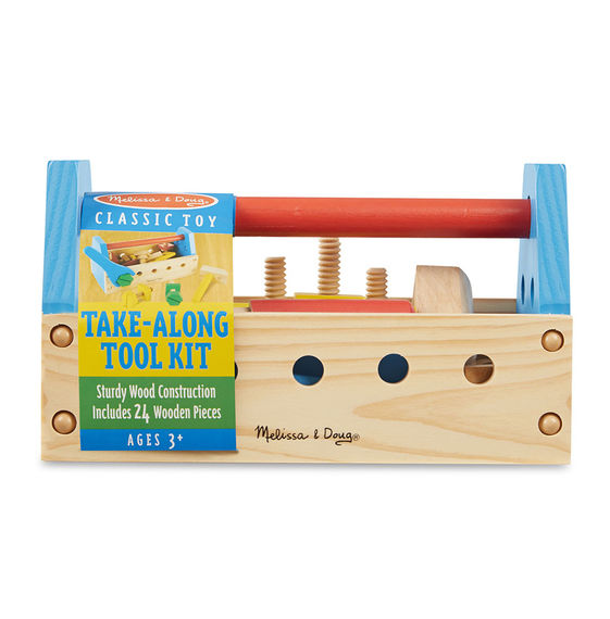 494 - Melissa & Doug Take-Along Tool Kit Wooden Toy