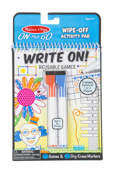 5056 - Melissa & Doug On-the-Go Write-On/Wipe Off ACtivities GAme Pad