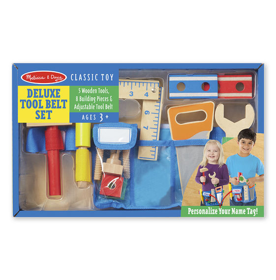 5174 - Melissa & Doug Deluxe Wooden Tool Belt Set