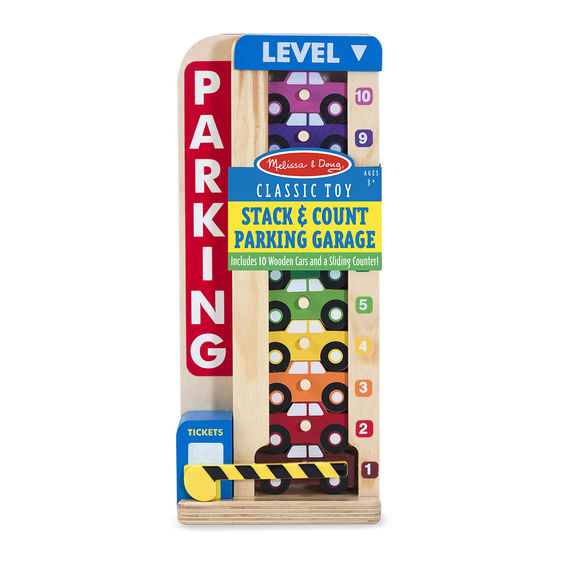 5182 - Melissa & Doug Wooden Stack & Count Parking Garage