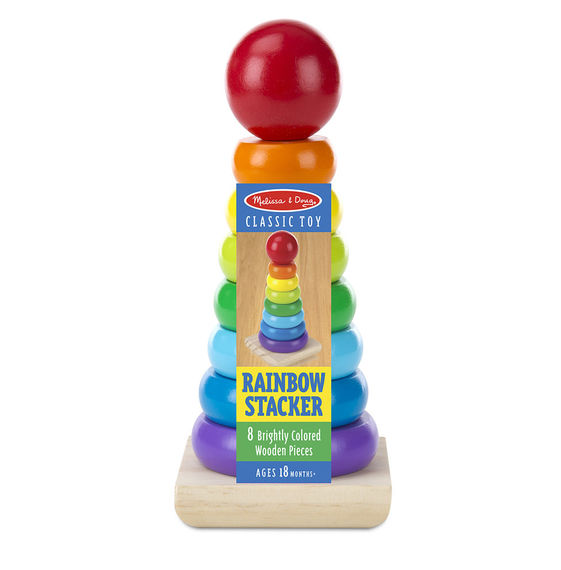 576 - Melissa & Doug Rainbow Stacker Classic Toy