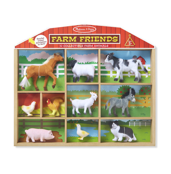 594 - Melissa & Doug Farm Friends - 10 Collectible Farm Animals