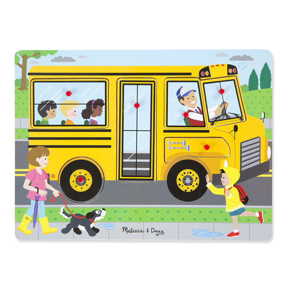 739 - Melissa & Doug The Wheels on the Bus Sound Puzzle