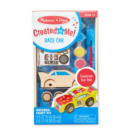 8829 - Melissa & Doug Decorate-Your-Own Wooden Race Car