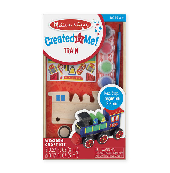 8846 - Melissa & Doug Decorate-Your-Own Wooden Train