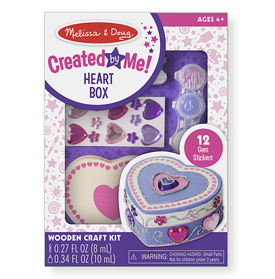 8850 - Melissa & Doug Decorate-Your-Own Wooden Heart Box
