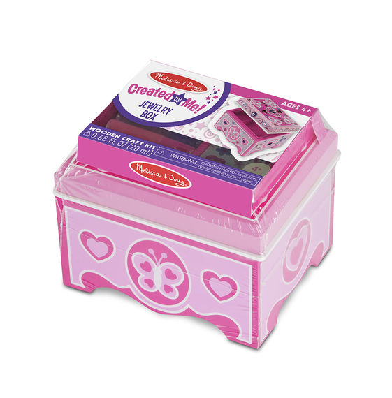 8861 - Melissa & Doug Decorate-Your-Own Wooden Jewelry Box