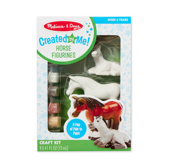 8867 - Melissa & Doug Decorate-Your-Own Horse Figurines