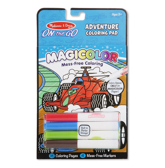 9129 - Melissa & Doug Magicolor On-the-Go Games & Adventure Coloring Pad