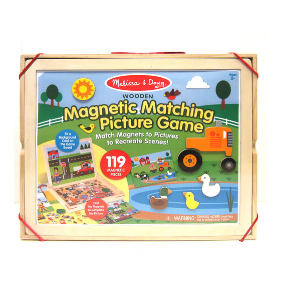 9918 - Melissa & Doug Wooden Magnetic Matching Picture Game