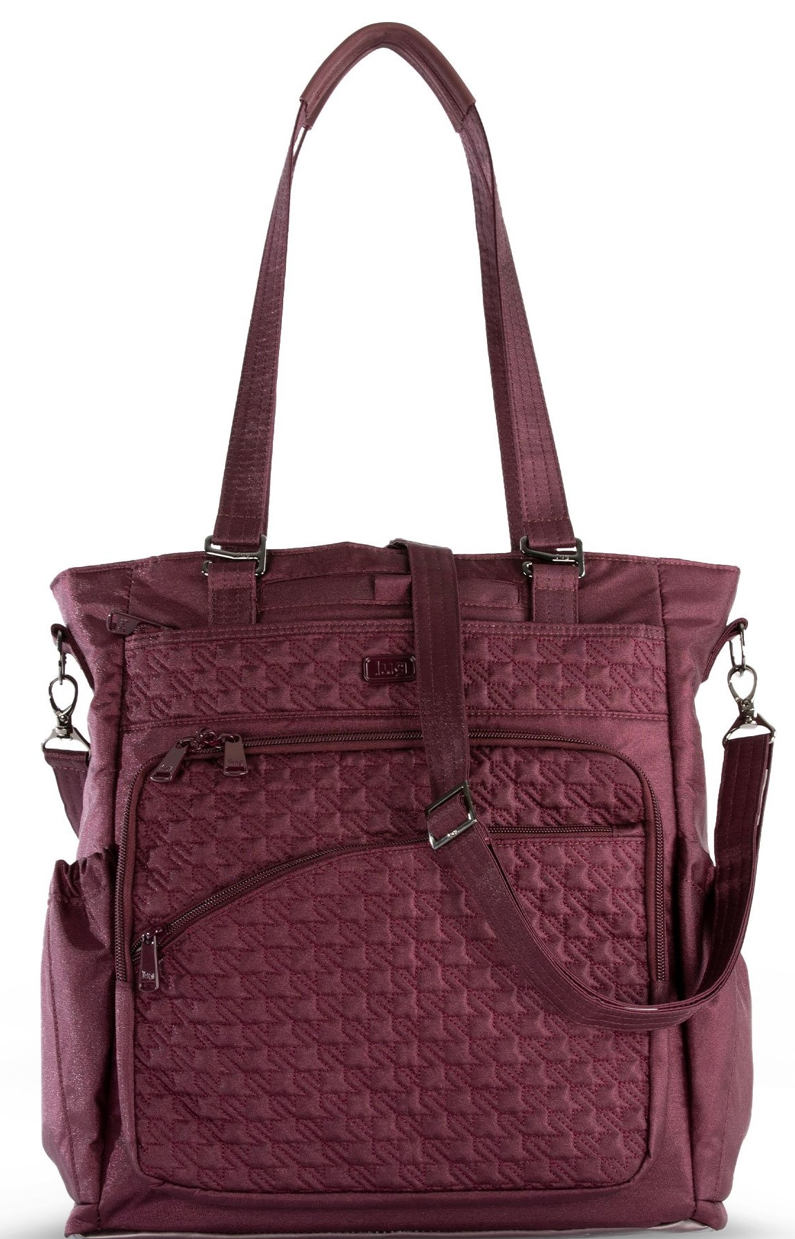 LUG - Ace 2 - North/South Crossbody Tote - Shimmer Wine