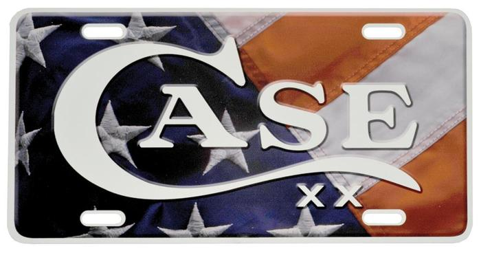 Case XX #50128 Case Logo w/Flag Front License Plate