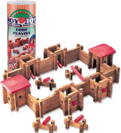 Roy Toy Log Fort Deluxe, 140pc