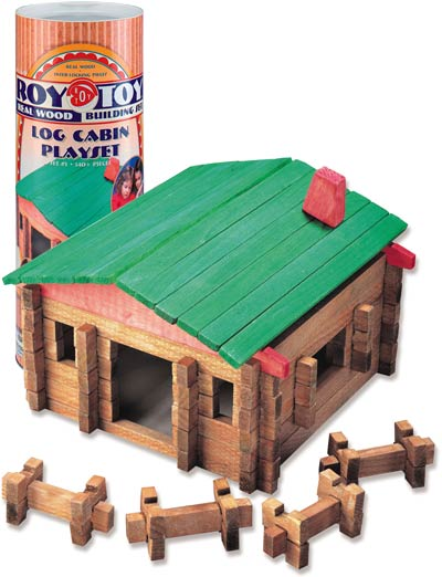 Roy Toy Log Cabin Deluxe, 140pc