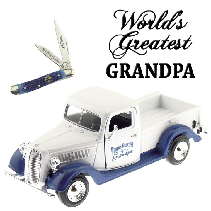 Frost Cutlery Little Peanut Knife and World's Greatest Grandpa Ford Truck Gift Set