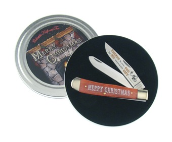 Merry Christmas Knife Gift Tin