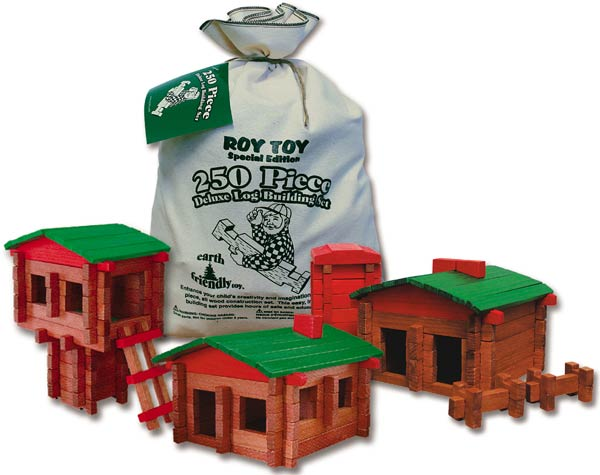 Roy Toy Log Cabin Deluxe set, 250pc.