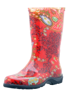 Paisley Red Slogger Boot