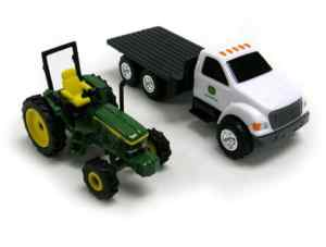 John Deere 6410 w/ Dealership Truck